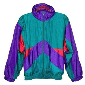 Vintage J.P.I Company Colorblock Windbreaker Jacket